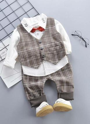 Нарядный костюм-тройка мальчику