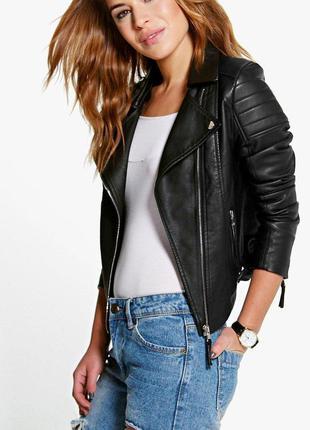 🎁1+1=3 крутая качественная плотная кожаная куртка косуха next,...