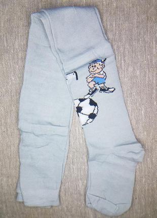 Детские хлопковые колготки на мальчика футбол 104-110