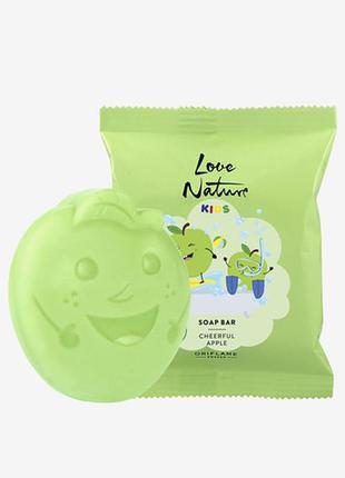 Детское мыло с яблоком love nature