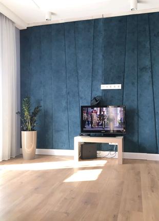 Стеновые панели обивка (драпировка) стен тканью