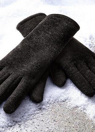 Вязаные перчатки с начесом, tcm tchibo, германия, р.8,5