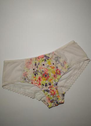 Красивые трусики с кружевом в цветочный принт marks&spencer uk...
