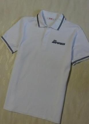 Красивая белая футболка с черной отделкой slam, р. l/xl