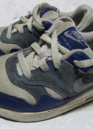 Детские кожаные кроссовки nike airmax оригинал стелька 18см 28...