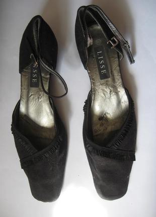 Lisse элегантные черные босоножки открытые туфли на танкетке р...