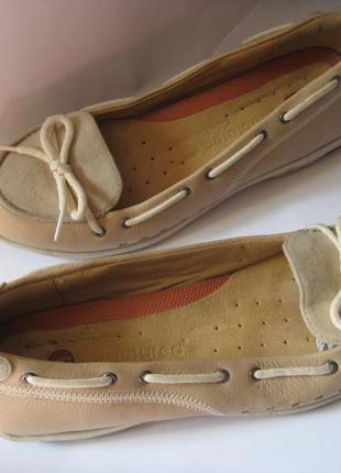 Clarks. италия. кожаные ортопедические туфли балетки мокасины ...