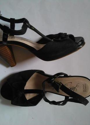 M&s модные босоножки на каблуку рр 40 стелька 26см