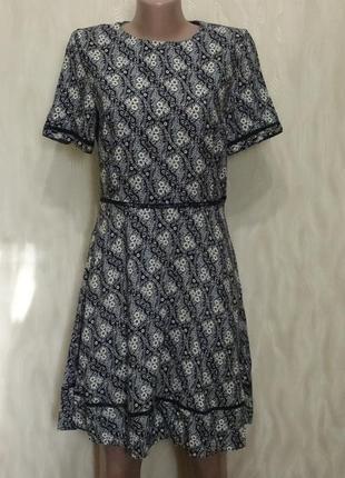Платье из натуральной ткани, р.44