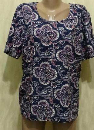 Легкая блуза большого размера индия , р.58-60