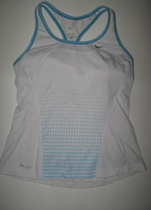 Nike dri fit оригинал! хлопковая спортивная майка с чашками сп...