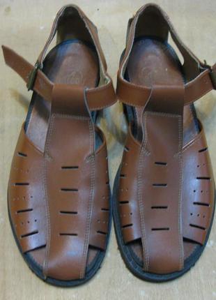 Кожаные мужские сандалии 42р  стелька 27см цебо времен ссср че...