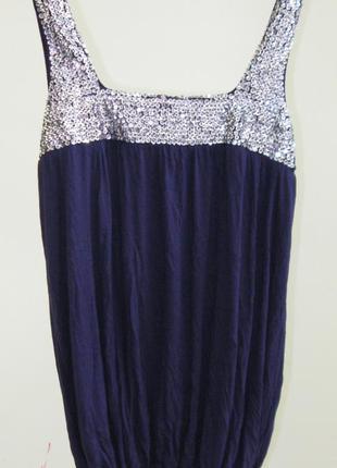 10-12 роскошная блуза с паетками 100% вискоза