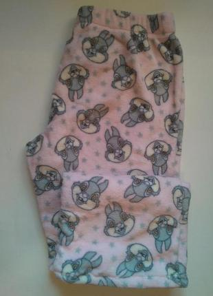 14-16 новые! теплые домашние плюшевые штанишки
