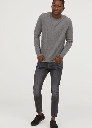 Джинсы мужские серые скини skinny cropped h&m 36