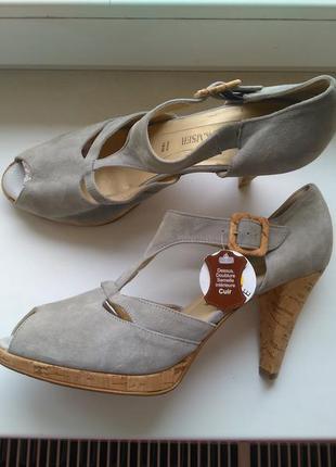 Рр 40,5-41 новые брендовые супер модные кожаные замшевые босон...