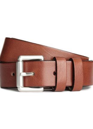 Ремень пояс кожаный светло коричневый h&m швеция
