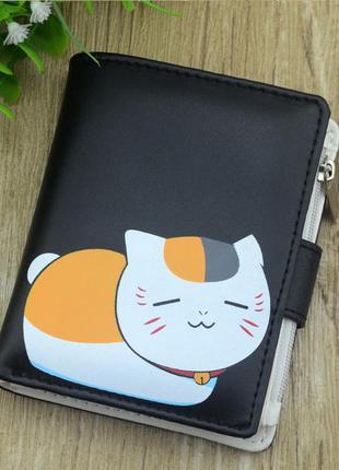Новый крутой компактный короткий черный кошелек аниме кот из н...