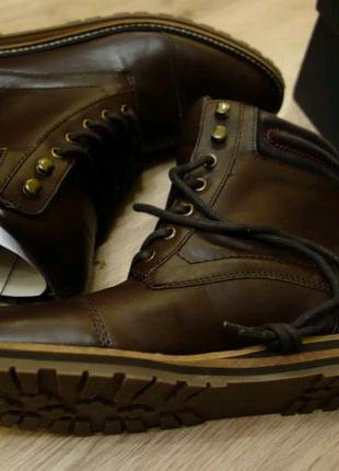 Кожаные ботинки Tommy Hilfiger р. 9,5 СЛА