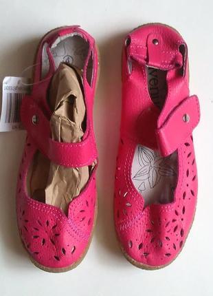 Новые стильные кожаные босоножки сандали на липучке, летние ту...