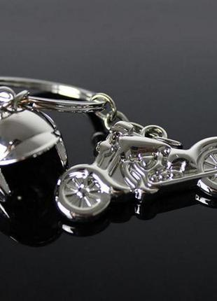 Новый 3d имитационная модель брелок мотоцикл со шлемом брелок ...
