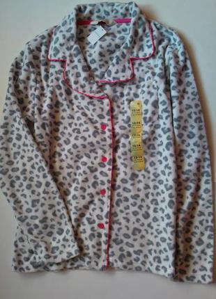 12-14 новая теплая плюшевыя флисовая пижама кофта для дома сна...