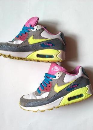 Яркие стильные женские кожанные кроссовки nike air max оригина...
