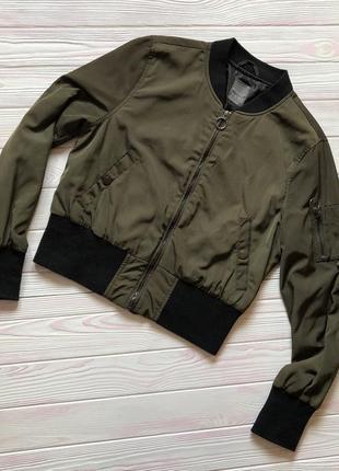 10 м 38 куртка бомбер мастерка ветровка хаки милитари primark