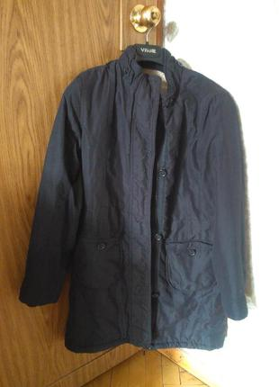 Черная подростковая парка курточка с плюшевой подкладкой утепл...