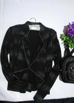 Стильный жакет с кожаным напылением.fabuloos black