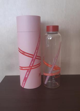 Скляна пляшка для води від mary kay