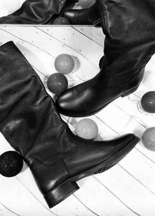 Женские кожаные сапоги зима натуральная кожа