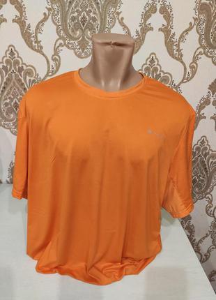 Quechua мужская оранжевая спортивная футболка