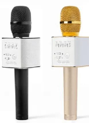 Микрофон-колонка bluetooth Q9 портативная Черный / Золотой