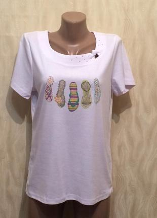 Блуза футболка с декором bm casual , р.50