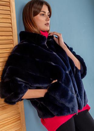 Модный бомбер куртка из мехаорилагстильный,  тренд зима весн...