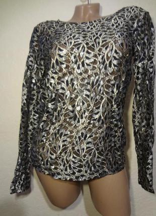 Обалденная гипюровая блуза vero moda размер м