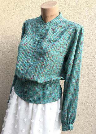 Винтаж,misuzu,b&b,эксклюзив,блуза с легким плиссе,рубашка,цвет...