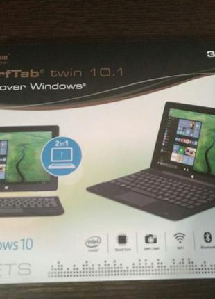 Планшет TrekStor Surftab Twin 10.1 на Windows с клавиатурой