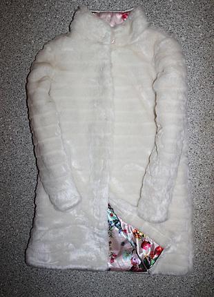 Демисезонная шубка шуба меховое пальто