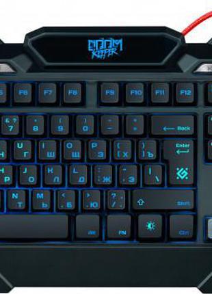 Клавиатура проводная Defender Doom Keeper GK-100DL USB с подсветк