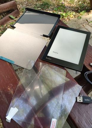 Электронная книга KOBO Aura HD + чехол + пленки