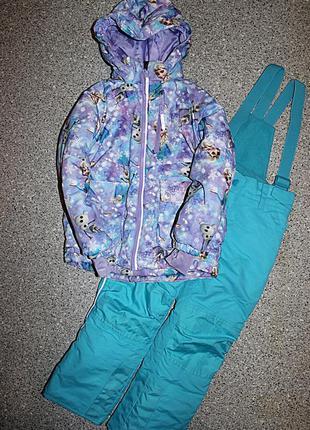 Зимний комплект комбинезон штаны куртка фрозен frozen анна эль...