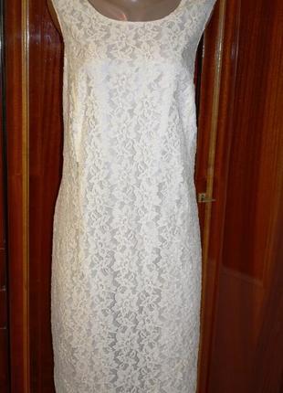 Нарядное гипюровое платье classics , р.56_