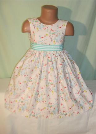 Пышное хлопковое платье на 3-4годика