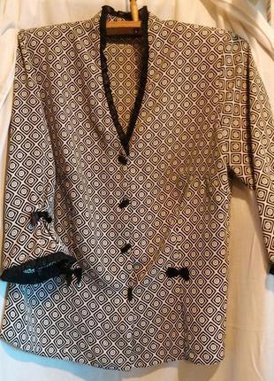 Шикарная нарядная деловая офисная блуза рукав 3\4 с v-образным...