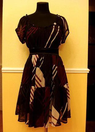 Коктейльное шифоновое платье туника подойдет для беременных