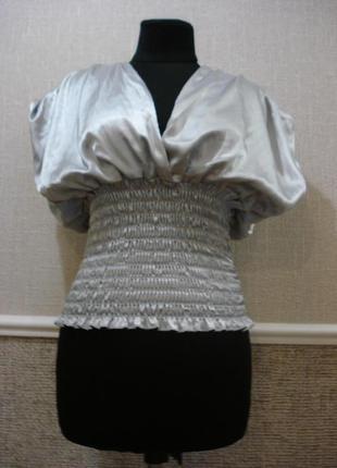Атласная летняя кофточка блузка без рукавов