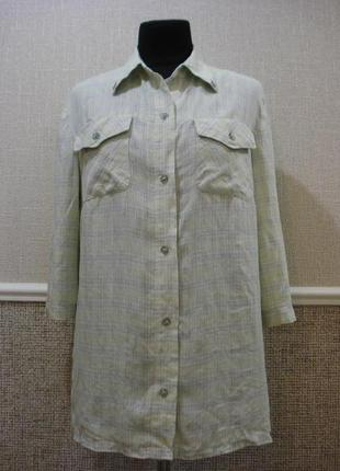 Одежда в стиле кэжуал удлиненная рубашка с рукавом 3/4 большог...