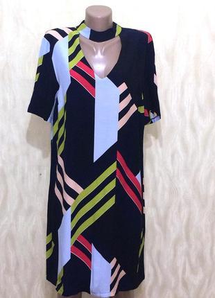 Оригинальное платье с натуральной легкой ткани dorothy perkins...